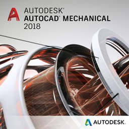autocad mechanical 2018 badge 256px